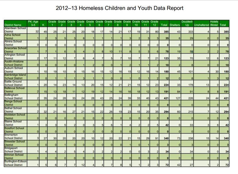2012-13 Homeless Children and Youth Data Report