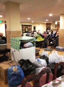 A clothing drive accompanied this workshop on family homelessness.
