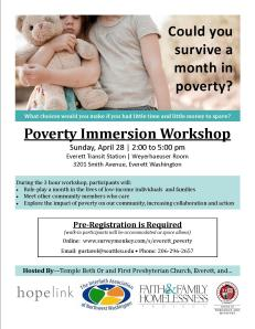Poverty Immersion Color Flyer Everett April 2013