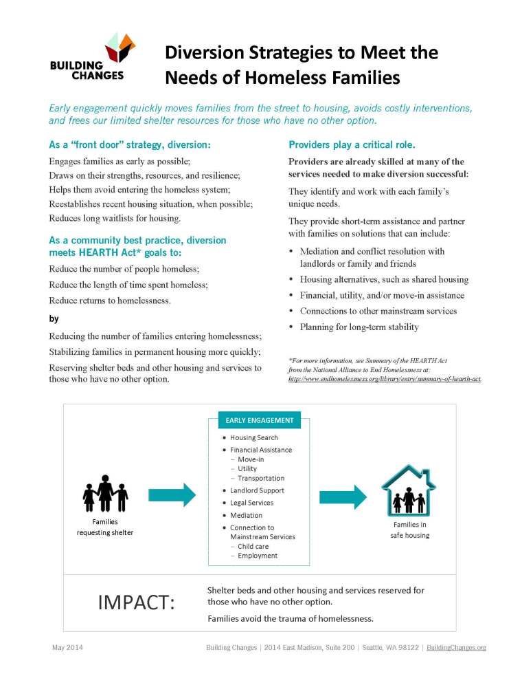 Diversion from family homelessness