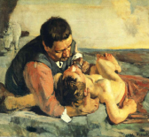 The Good Samaritan by Ferdinand Holder (1885)