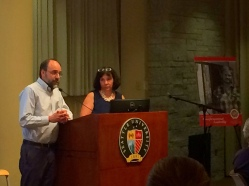 Michael Ramos, Church Council of Greater Seattle, and Lisa Gustaveson, SU Faith & Family Homelessness Project