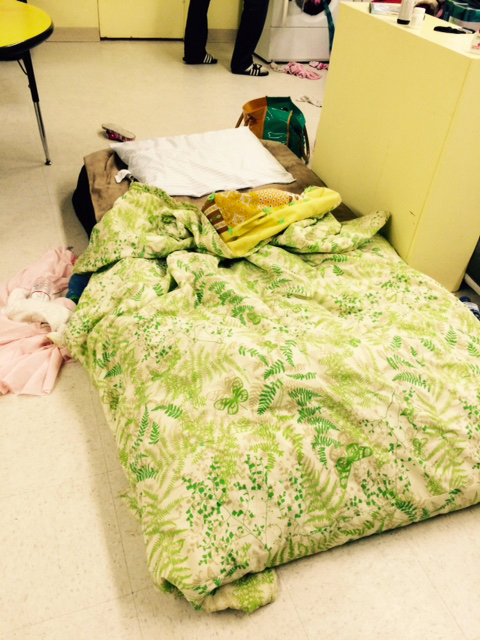 Bed at Riverside UMC - Providing Shelter to Homeless Families