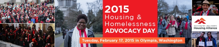 2015 Housing & Homelessness Advocacy Day - 2-17-15 in Olympia