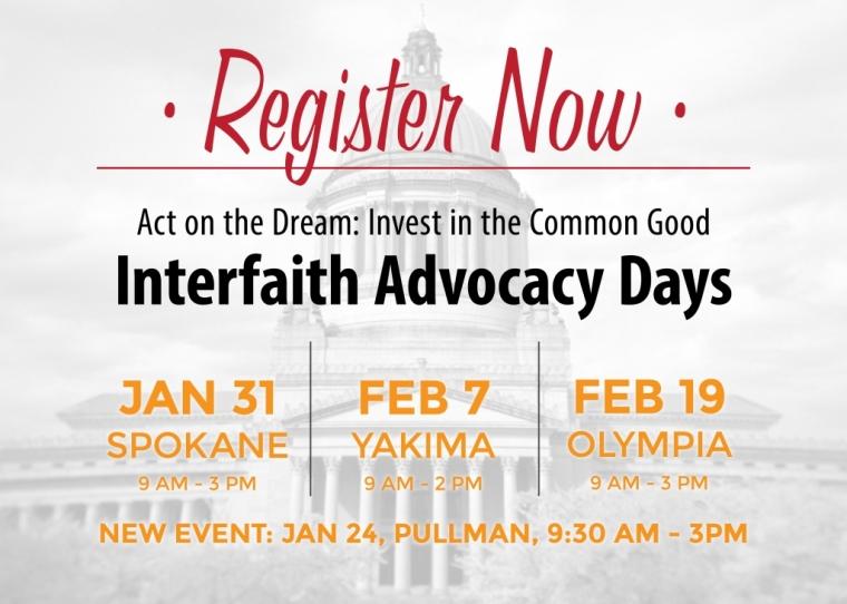 Interfaith Advocacy Days 2015 - 2-19-15 in Olympia