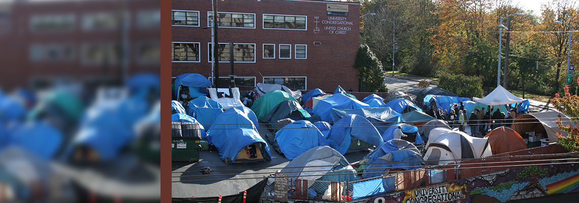 Tent Cities - University Congregational UCC 2010, CC KUOW 949 Public Radio