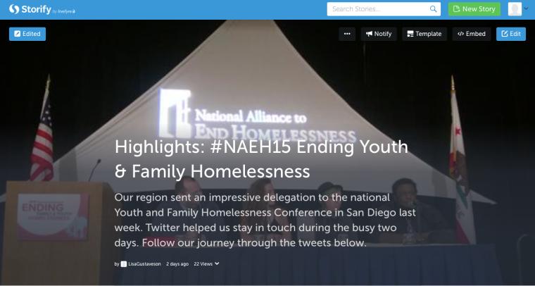 Storify NAEH15