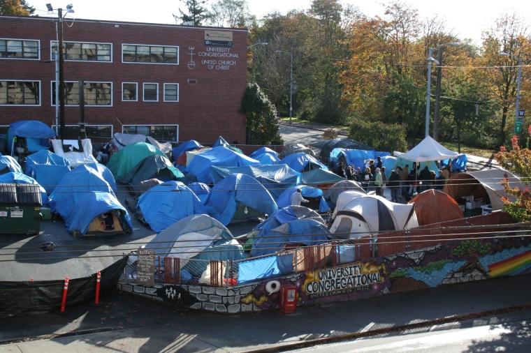 Tent City - University Congregational UCC, Seattle 2010