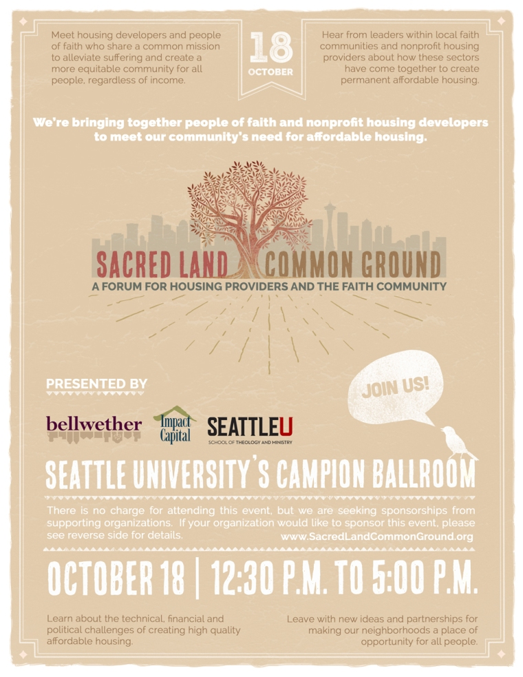 Sacred Land Common Ground October 18 2015 Affordable Housing Conference Seattle WA